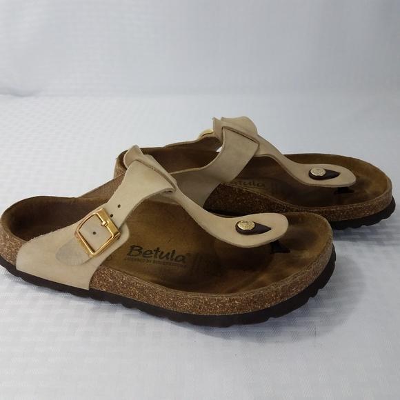 Birkenstock Betula Rap Thong Sandals Tan Size 9